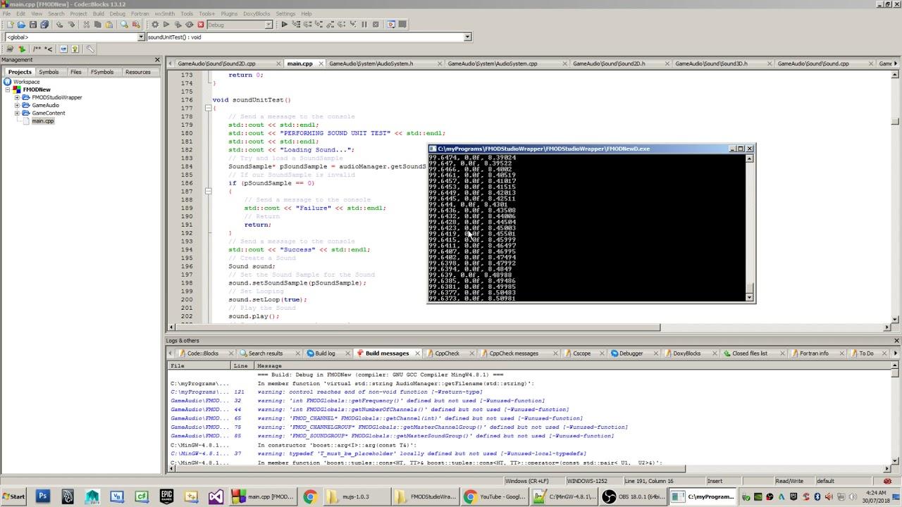 FMODStudio Audio Wrapper Source Code Release (C++, FMOD, DSP)