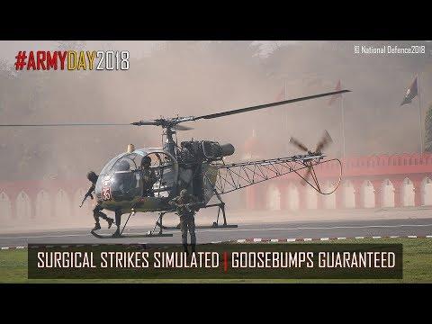 Army Day 2018 Parade | Surgical Strikes Simulated | Latest Motor bike Stunts | Goosebumps Guaranteed