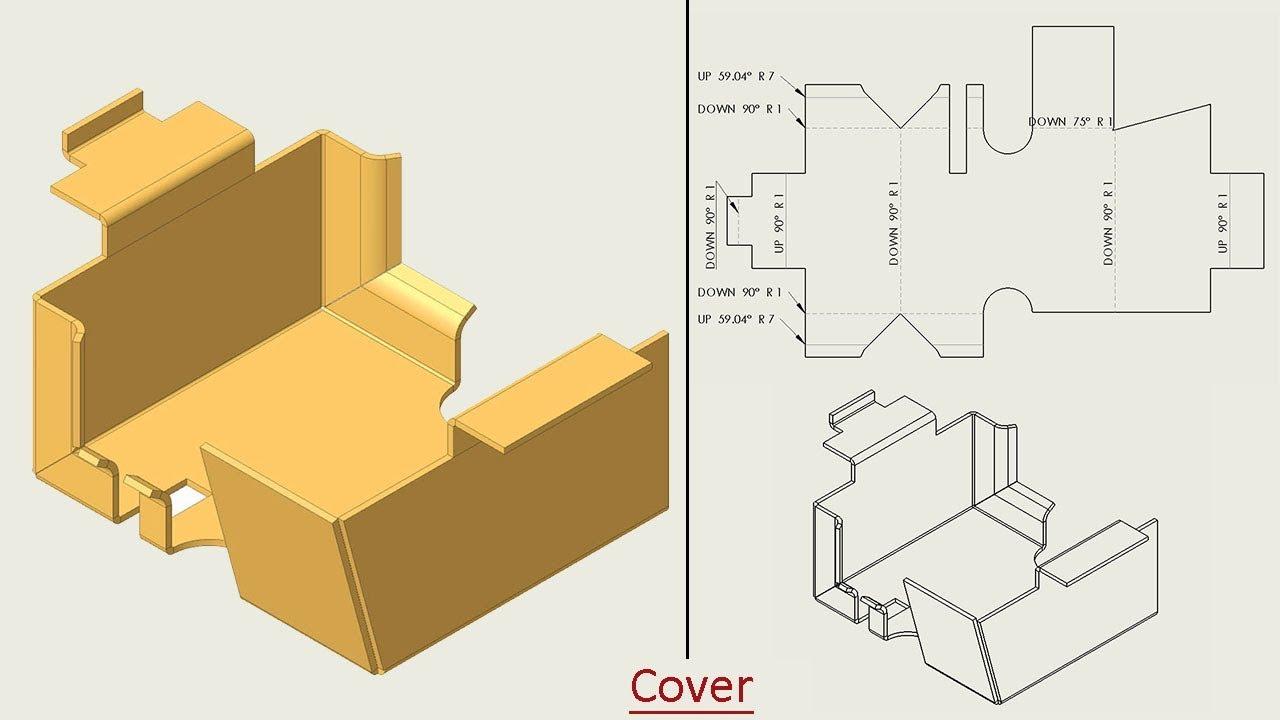 Autodesk Inventor Basic Tutorial Sheet Metal Youtube