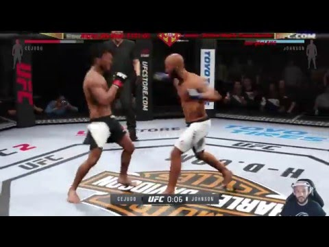 """MightyMouse"" Demetrious Johnson vs AFRoO - EA SPORTS UFC 2"