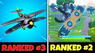 EVERY Fortnite Vehicle Ranked from WORST to BEST (Driftboard Gameplay)
