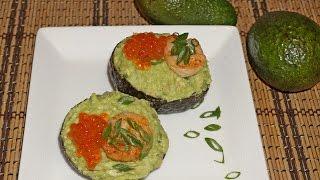 Салат из авокадо с креветками_Avocado shrimp salad