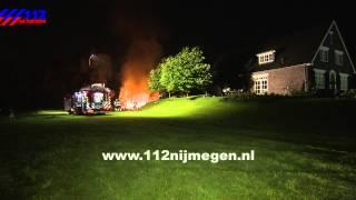 112Nijmegen - Middelbrand schuur Ooij Erlecom
