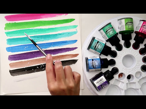 Bombay India ink color swatch process