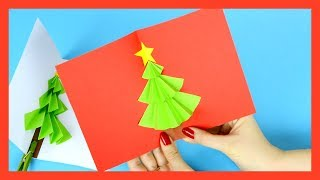 Christmas Tree Pop up Card Craft for Kids