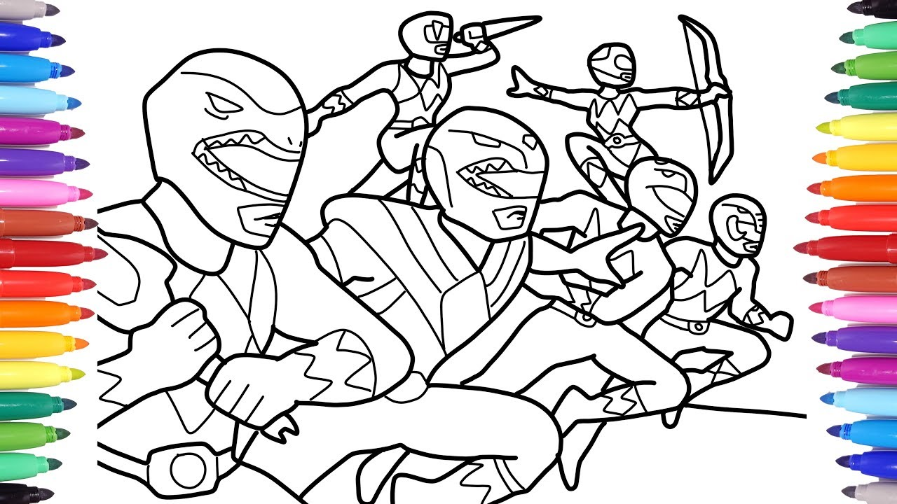POWER RANGERS // ALL POWER RANGERS CHARACTERS COLORING ...