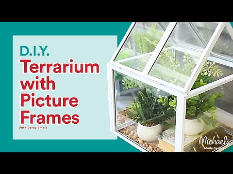 DIY Picture Frame Greenhouse | Michaels