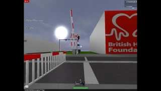 ROBLOX - Lincoln Central Level crossing - (Far Barrier Malfunction)