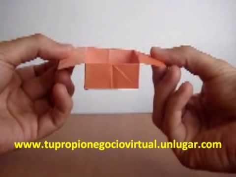Origami c mo hacer una caja de papel f cilmente youtube - Como hacer una caja de madera paso a paso ...