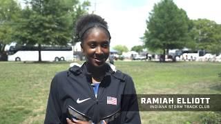 Ramiah Elliott Dominates Sprint Double