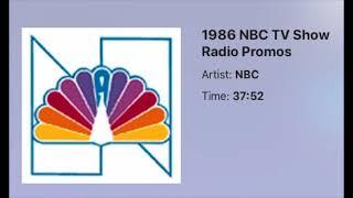 1986 NBC TV Show Radio Promos