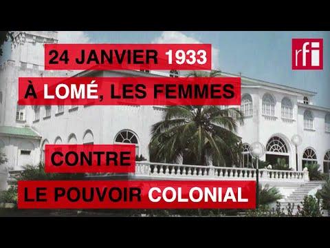 24 janvier 1933 : les femmes contre le pouvoir colonial à Lomé