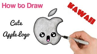 How to Draw Apple Logo Cute and Easy