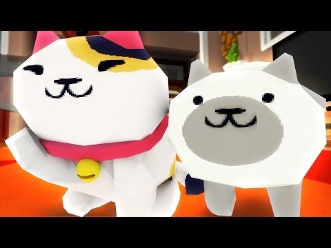 Neko Atsume! | Cowboy Cats! Minecraft Hide and Seek