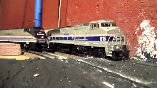 Some Of My Ho Scale Amtrak Trains In Action! 4.19.15