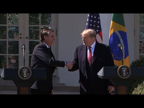 Trump praises Brazil's far-right president at WH