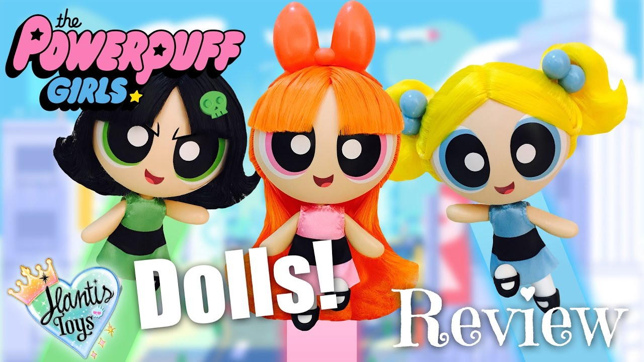 powerpuff girls deluxe dolls with rooted hair review unboxing