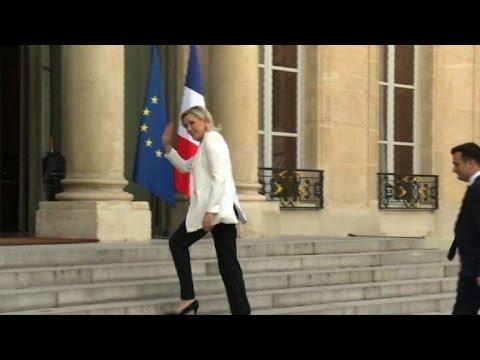 Brexit: la présidente du FN Marine Le Pen reçue à l'Elysée