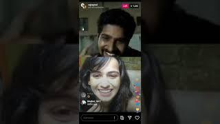 lagira zhala jee actress shivani baokar and actor nitish chavan instagram live