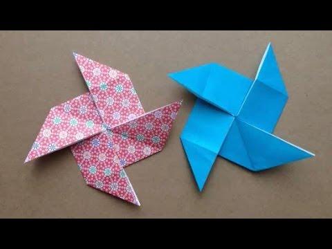 折り 折り紙 折り紙 風車 作り方 : youtube.com
