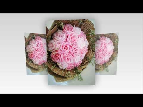 Hướng dẫn cách bó hoa hoa đơn giản mà đẹp - bó hoa hồng Dzung Mac