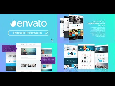 website presentation after effects template youtube