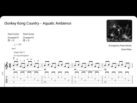 Aquatic Ambience - Donkey Kong Country (Arranged by Paolo Murillo) TAB