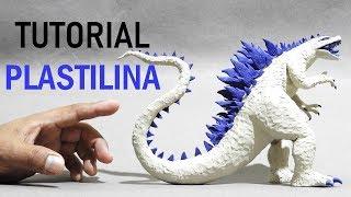 Como hacer a GODZILLA ALBINA de Plastilina paso a paso - Mi mundo de Plastilina