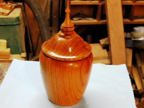 #29 Woodturning a Lidded Box from Brazilian Cherry Part 1