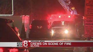 No injuries in fire at Milford apartment complex