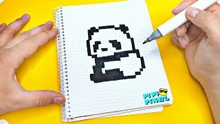 Рисуем по клеточкам-ПАНДА ! PIXEL ART PANDA
