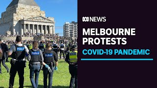 More than 200 protesters arrested at Melbourne's Shrine of Remembrance | ABC News