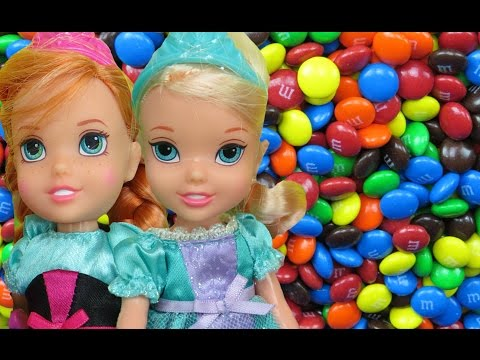 CANDY Playplace! ELSA & ANNA toddlers have fun sliding, hiding, jumping, playing in CANDIES!