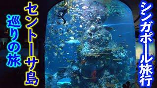 【シンガポール旅行2018#3】ユニバ!マーライオン!水族館!セントーサ島をぶらりと観光!!