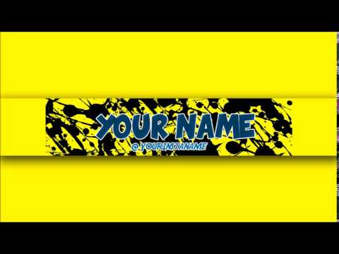 FREE Awesome Youtube Channel Banner Template #2 + Direct Download - channel banner template