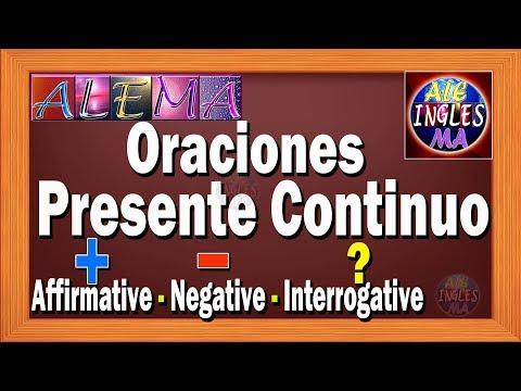 Oraciones Presente Progresivo En Ingles Presente Continuo
