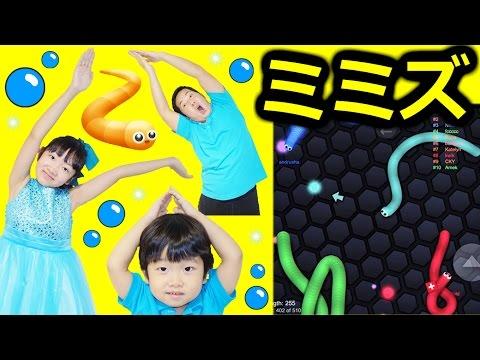 ★スリザリオ「最後まで生き残れ~!ミミズゲーム!」★slither.io★