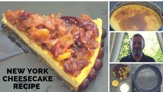 New York Cheesecake Recipe | Grape Coulis | #DoStathi