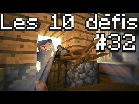 10 Défis MINECRAFT #32! | Chasse au donjon et spécial connerie!