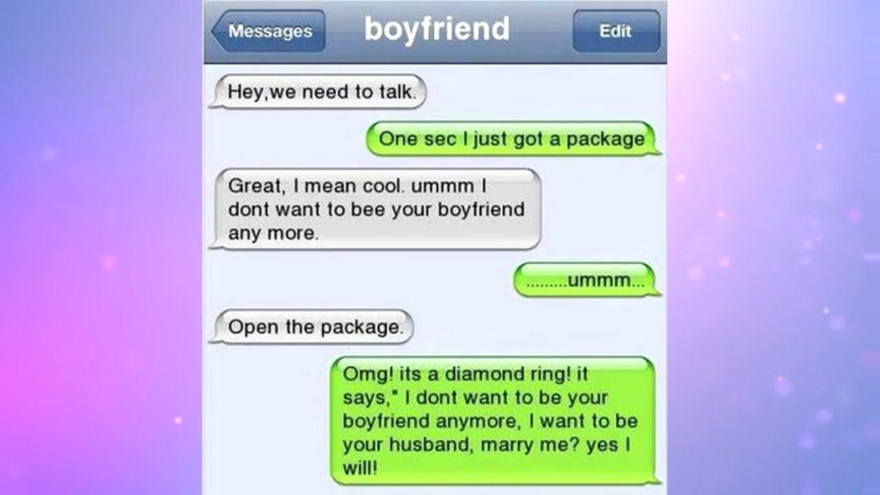 Top 10 Hilarious Girlfriend Boyfriend Texts (2016) - YouTube Boyfriend Girlfriend Text Messages