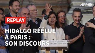 Replay - Anne Hidalgo Réélue Maire De Paris : Son Discours