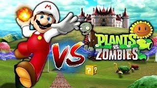 Mario Bros  vs (Plants vs Zombies) | Juego Random | Gameplay Español