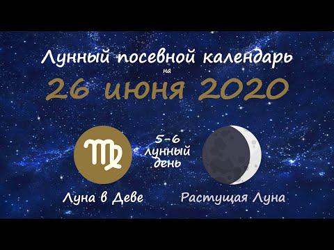 [26 июня 2020] Лунный посевной календарь огородника-садовода