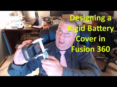 Designing a @RIDGIDPower Battery Cover in Fusion 360 and 3D Printing it for Safe Battery Storage Ep2