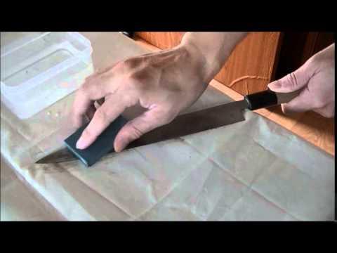 enlever la rouille du couteau - youtube