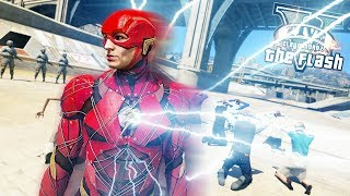 THE FLASH Saves People With LIGHT SPEED! Justice League Flash (GTA 5 Quicksilver Mod)
