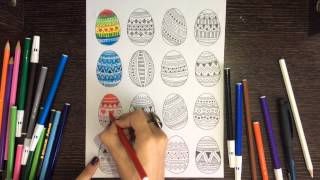 Painting eggs - How to paint eggs [Mandala Drawing]