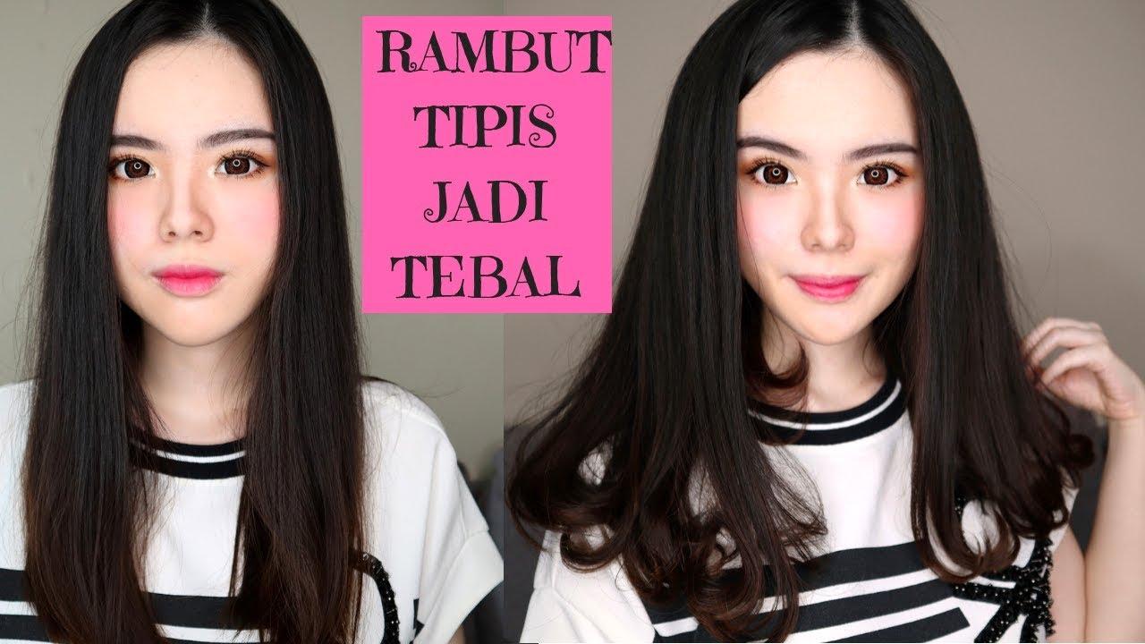 Cara Catok Rambut Tipis Jadi Terlihat Tebal Dan Bervolume Tanpa Sasak Hairspray Youtube