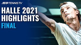 Ugo Humbert vs Andrey Rublev For The Title   Halle 2021 Final Highlights