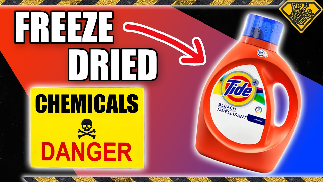 Freeze Drying the Chemicals Out of Tide!